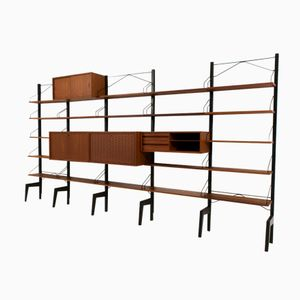 Large Freestanding Wall Unit by Poul Cadovius for Cado, 1960s