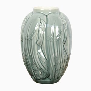 Monochrome Vase von Charles Catteau für Boch Frères, 1931