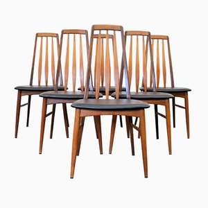 Eva Dining Chairs by Niels Koefoed for Koefoeds Hornslet, Set of 6