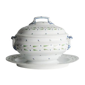 Antique Tureen with Saucer from Niderviller, 1790s