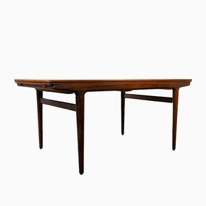 Mid-Century Danish Teak Extendable Dining Table by Johannes Andersen for Uldum Møbelfabrik, 1950s