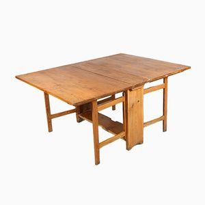 Antique Swedish Wooden Folding Table