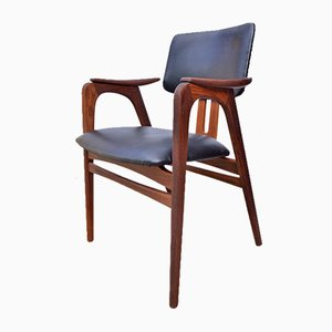 Teak and Leather Armchair by Cees Braakman for Pastoe