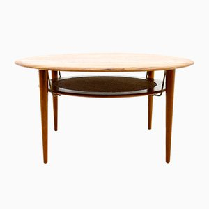 FD 515 Round Sofa Table by Peter Hvidt & Orla Molgaard Nielsen for France & Son, 1960s