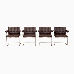 Schweizer UNESCO Armlehnstühle von Robert Haussmann für de Sede, 1950er, 4er Set