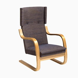 Vintage 36/401 Wingback Lounge Chair by Alvar Alto for Artek