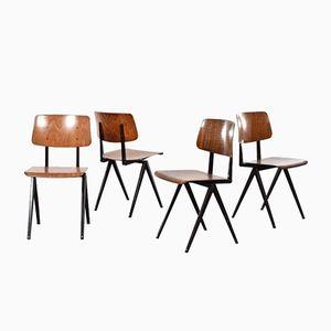 Industrielle S16 Schichtholz Stühle von Galvanitas, 4er Set