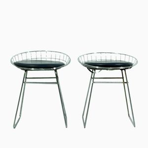 Wire Stools by Cees Braakman for Pastoe, 1950s, Set of 2