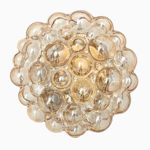 Lampada a incasso con bolle in vetro ambrato di Helena Tynell per Limburg