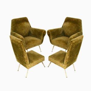 Club chair di Gigi Radice per Minotti, Italia, anni '50, set di 4