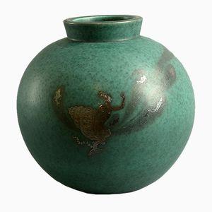 Large Argenta Vase by Wilhelm Kåge for Gustavsberg, 1940s