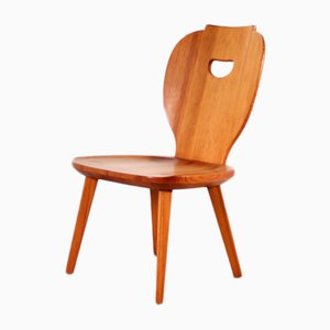 Swedish Pine Side Chair by Carl Malmsten for Svensk Fur, 1950s