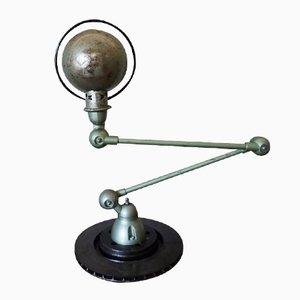Grüne Industrielle Gelenk Tischlampe von Jieldé, 1950er