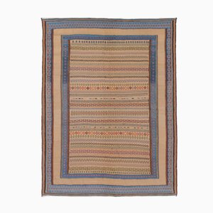 Mehrfarbiger Bestickter Persischer Kilim Teppich