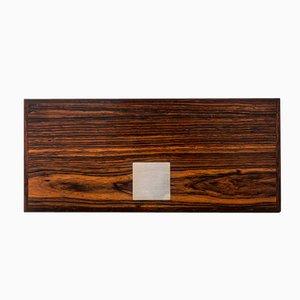 Scandinavian Rosewood & Silver Box from Hans Hansen, 1950s