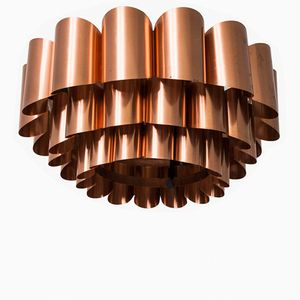 Brass Ceiling Lamp by Werner Schou for Coronell, 1960s