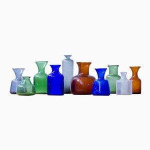 Vases Vintage par Erik Höglund pour Boda, 1950s, Suède, Set de 10