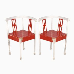Vintage Corner Chairs, Set of 2