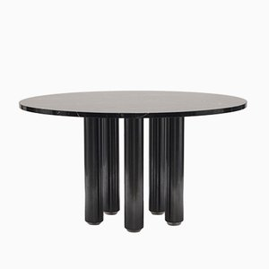 Black Marble Dining Table by Marco Zanuso for Zanotta, 1979