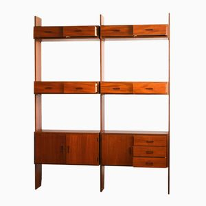 Mid-Century Teak Wall Unit from Simpla Lux, 1950s
