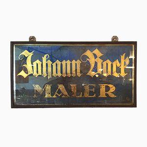 Antikes Deutsches Maler Firmenschild