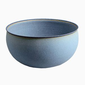 Danish Stoneware Bowl with Matte Light Blue Glaze from Alev Siesbye, 1983