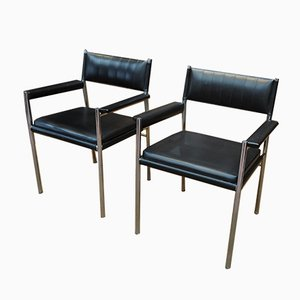 Italian Leatherette Armchairs from Gessef, 1950s, Set of 2
