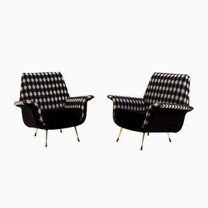 Italian Lounge Chairs, 1960s, Set of 2