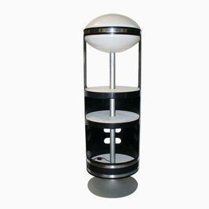Italian Rotating Cabinet and Light by Joe Colombo, 1960s