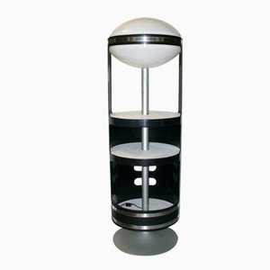 Italian Rotating Cabinet with Light, 1960s