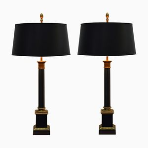 French Table Lamps from Maison Charles, 1970s, Set of 2