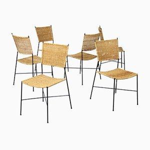 German Dining Chairs from Eisen- and Drahtwerke Erlau, 1950s, Set of 6