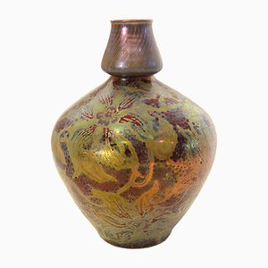 Vase Clematis de Clement Massier, France, 1895