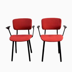 Mid-Century Dutch Chairs by Friso Kramer for Ahrend de Cirkel, Set of 2
