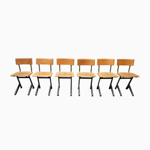 Mid-Century Industrial Chairs, Set of 6