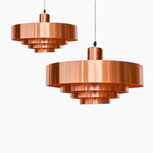 Rulet Deckenlampe von Jo Hammerborg für Fog & Morup, 2er Set