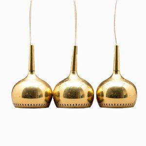 Schwedische Deckenlampe von Hans Agne Jakobsson für Markaryd, 3er Set