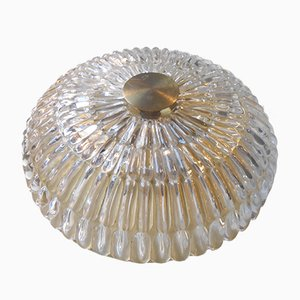 Schwedische Kristall & Messing Deckenlampe von Carl Fagerlund für Orrefors, 1950er