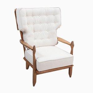 Französischer Stuhl aus Massiver Eiche mit Hoher Rückenlehne von Guillerme et Chambron für Votre Maison, 1960er