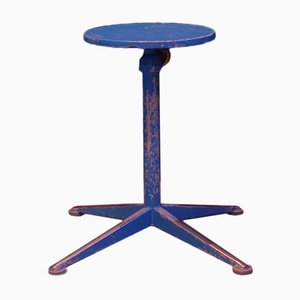 Dutch Blue High Stool by Friso Kramer for Ahrend De Cirkel, 1950s