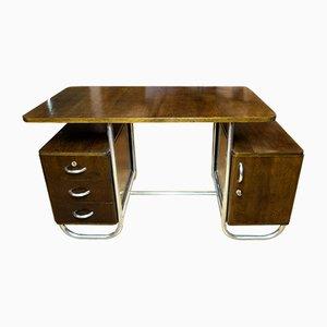 Czech Bauhaus Beech Desk, 1930s