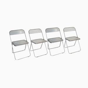 Plia Chairs by Giancarlo Piretti for Castelli, Set of 4