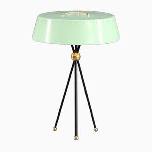 Mint Green Italian Tripod Table Lamp, 1950s