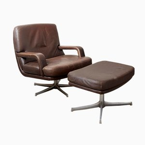 Don Lounge Chair and Ottoman by Bernd Münzebrock for Walter Knoll