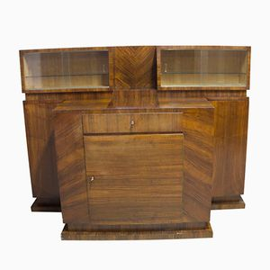 Czech Walnut Veneer Buffet by Vlastimil Brožek, 1930s