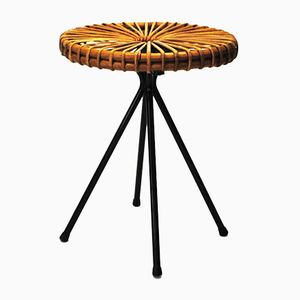 dutch wicker bar stool by dirk van sliedrecht for rohe. Black Bedroom Furniture Sets. Home Design Ideas