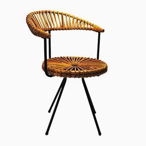 Dutch Rattan Chair by Dirk van Sliedregt for Rohe Noordwolde, 1960s