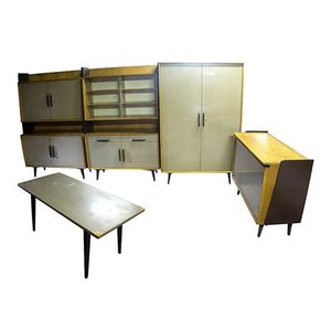 Czech Free Standing Cabinets, 1961, Set of 3
