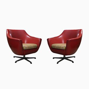 Czech Easy Swivel Chairs from UP Zavody, 1975, Set of 2