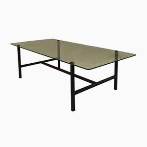 Mid-Century French Steel & Glass Coffee Table by Pierre Guariche for Disderot